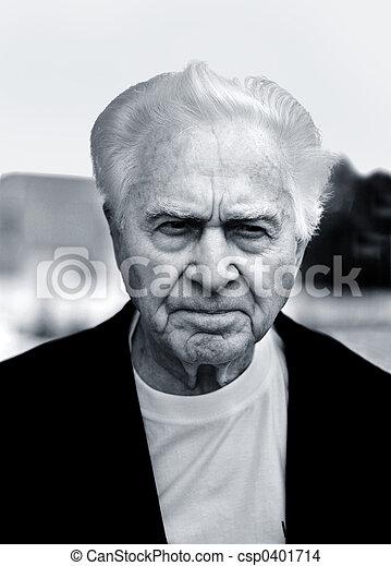 Unhappy old man - csp0401714