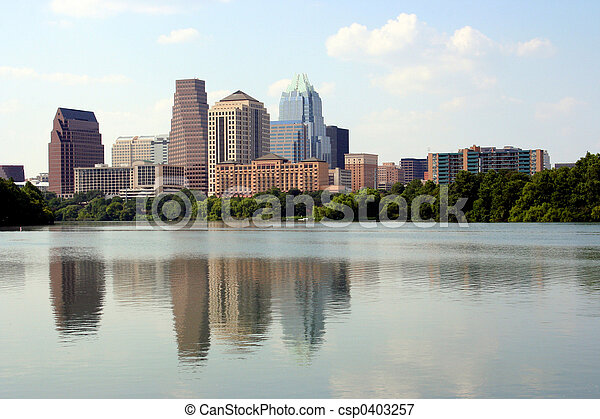 Downtown Austin, Texas - csp0403257