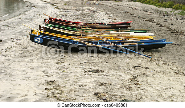 Rowboats On The Beach - csp0403861