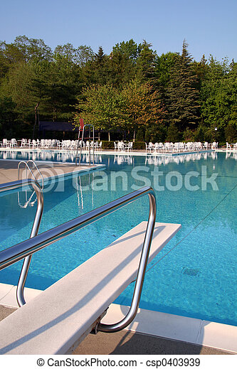 Pool with Diving Board - csp0403939