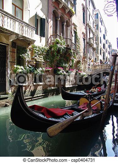 gondolas in venice - csp0404731