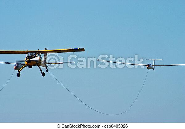 Sport aeroplane tow glider - csp0405026