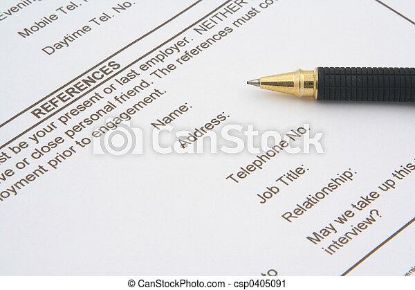 job application form - csp0405091