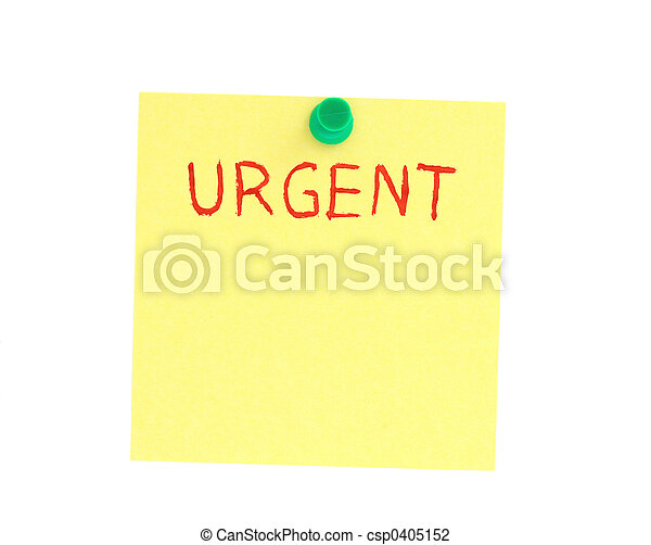 urgent post-it - csp0405152