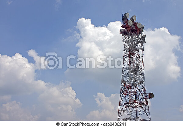 Microwave Relay Tower - csp0406241