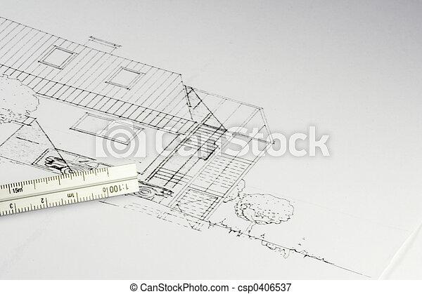 blueprint of a building 02 - csp0406537
