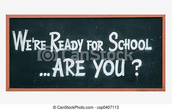 School blackboard sign - csp0407113