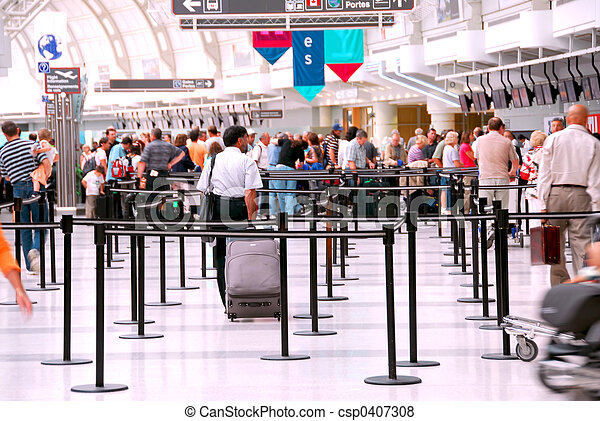 Airport crowd - csp0407308