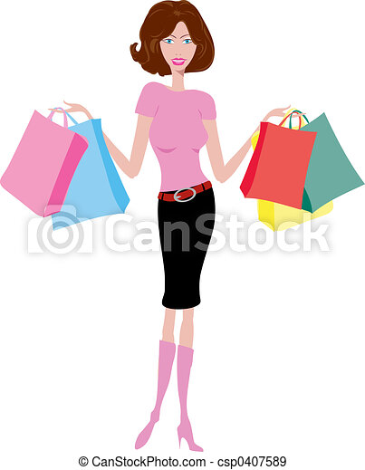 Shopping female  - csp0407589