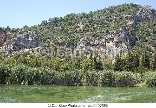 Lykian Rock Tombs - csp0407665