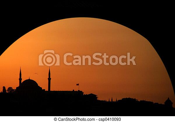 Sunset at Instanbul - csp0410093