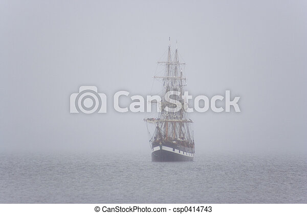 ship in the mist - csp0414743