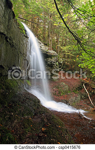 Waterfall side view - csp0415676