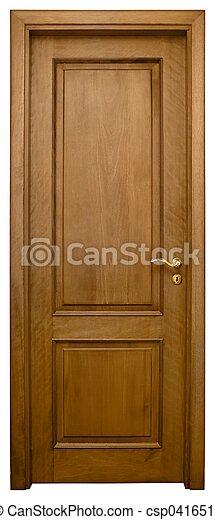 Wood Door 3 - csp0416513
