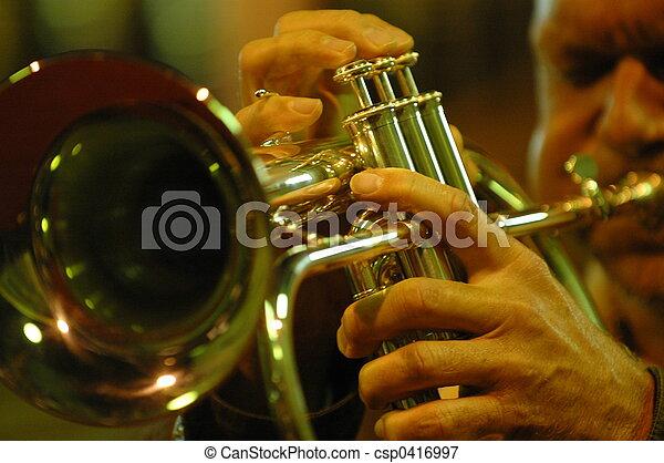 trumpet player - csp0416997