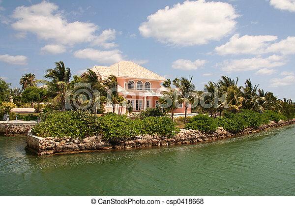 Expensive Coastal Real Estate - csp0418668
