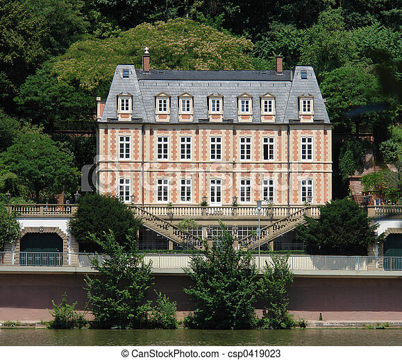 Stock photos of french chateau d this small french style for Small chateau