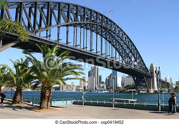 Sydney and Sydney Harbour Bridge - csp0419452