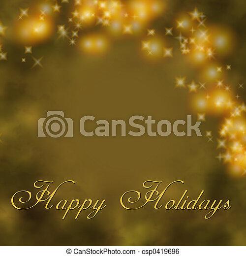Gold Holiday Greet - csp0419696