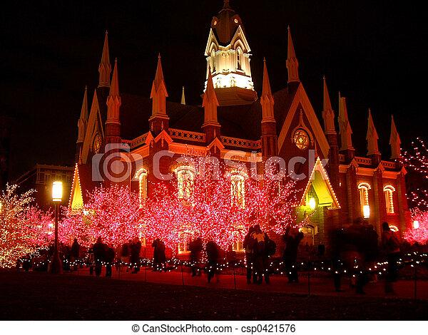 Christmas lights - csp0421576