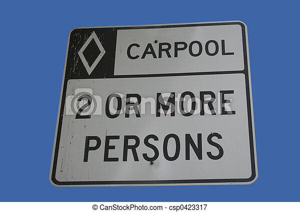 carpool vehicles only sign - csp0423317