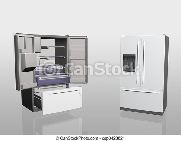 Household appliances, fridge,  - csp0423821