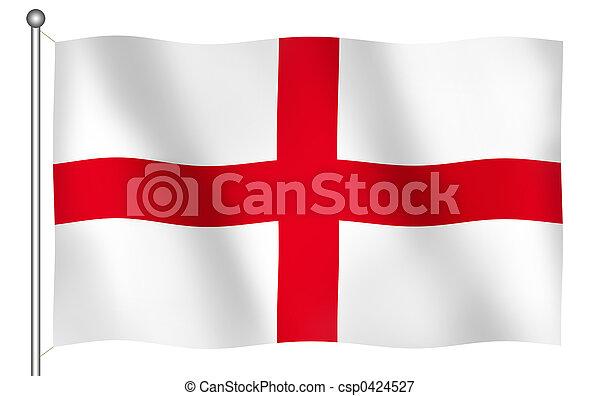 Flag of England's Saint George Waving - csp0424527