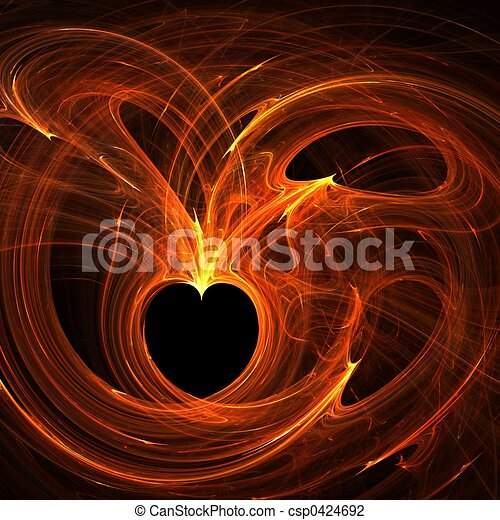 Burning hearts - csp0424692