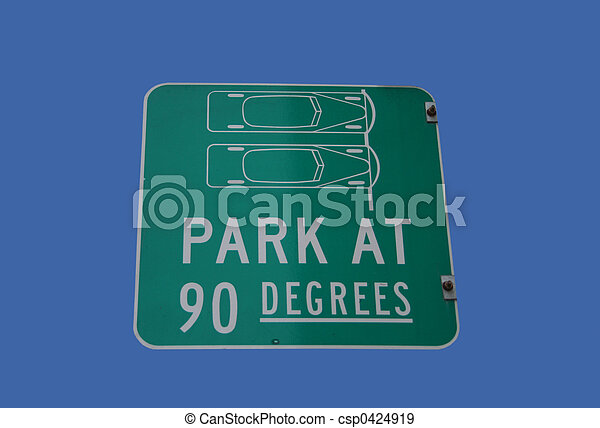 park at 90 degrees sign - csp0424919