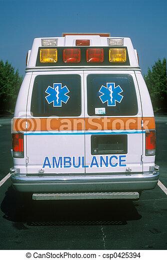 ambulan, vista traseira - csp0425394