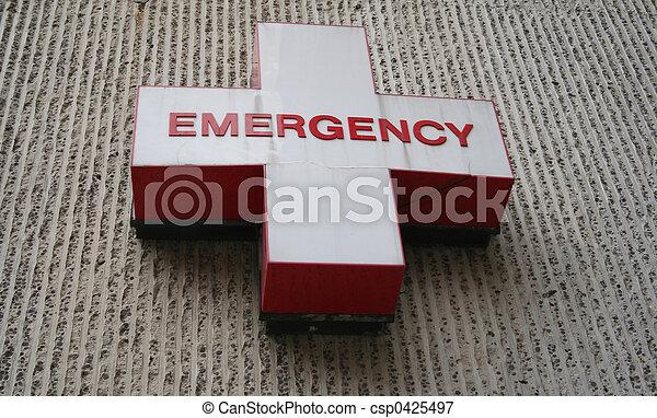Emergency room symbol - csp0425497