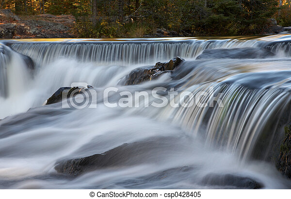 Cascading Waterfalls - csp0428405
