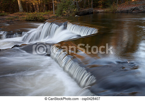 Cascading Waterfalls - csp0428407