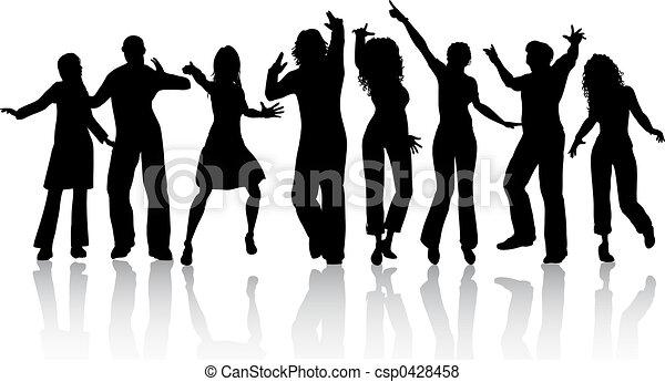 People dancing - csp0428458