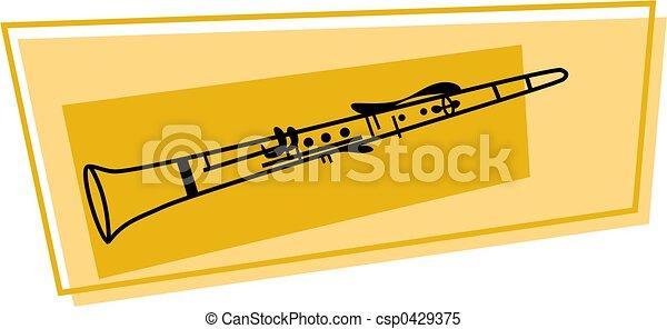 clarinete, ícone - csp0429375