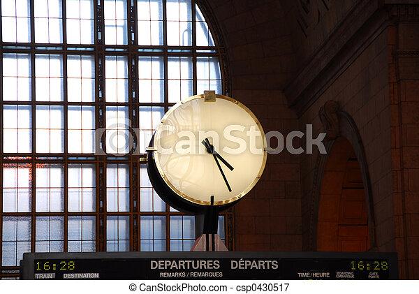 train,  station, horloge - csp0430517