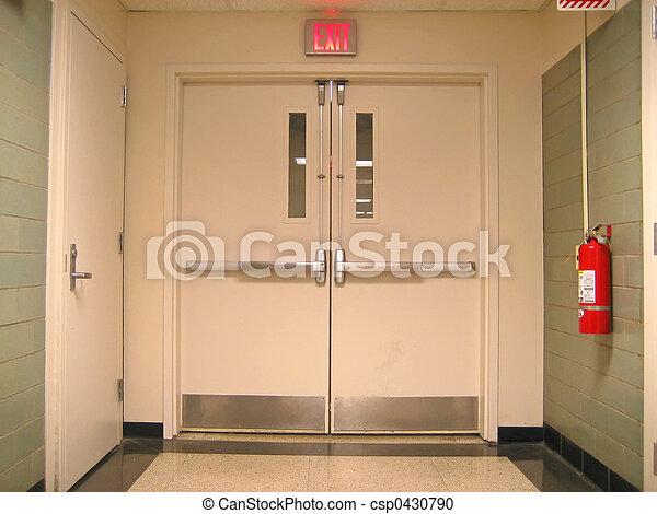 School Emergency Exit - csp0430790