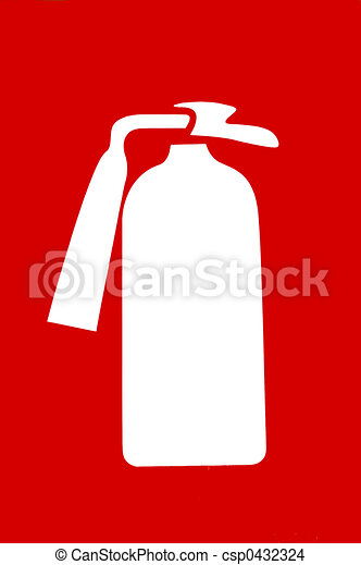 Fire extinguisher sign - csp0432324