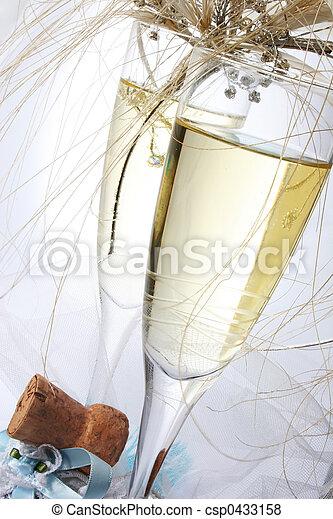 champagne, bröllop - csp0433158