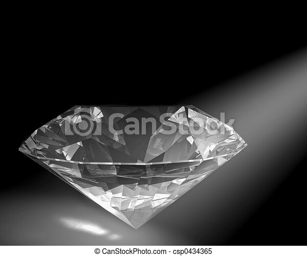 Diamond in white light - csp0434365