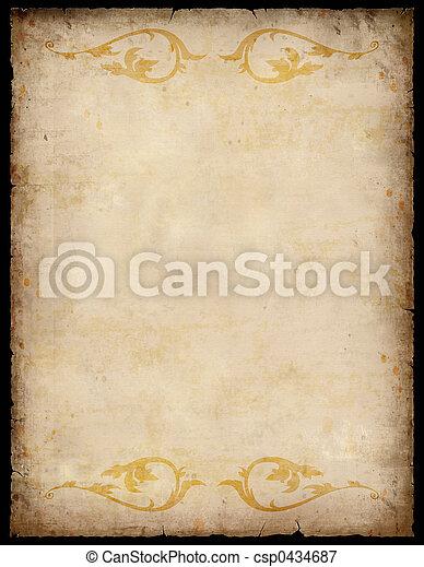 Årgång, papper, bakgrund, mönster - csp0434687