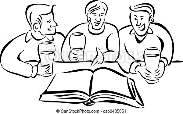 Clipart de discusión, grupo - grupo, joven, hombres, discutir ...