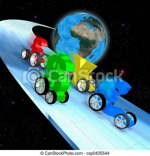 World economy race - csp0435544