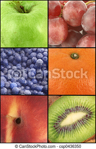 fruit collage - csp0436350