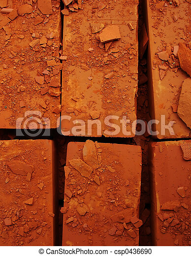 Damaged bricks - csp0436690