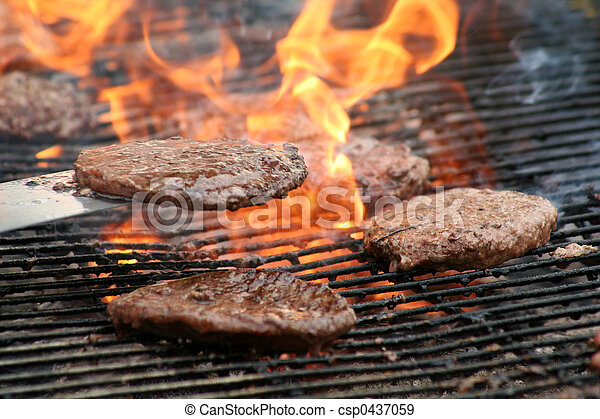 Burgers on the Grill - csp0437059