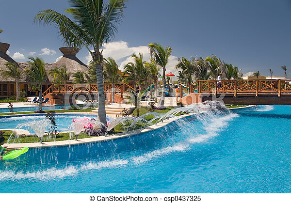 mexico pool like river - csp0437325