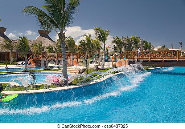 mexico pool like river - csp0437325