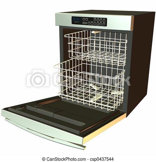 dessin de lave vaisselle open 3d 3d render. Black Bedroom Furniture Sets. Home Design Ideas