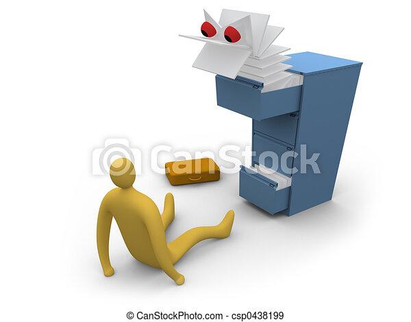Paperwork Monster #1 - csp0438199